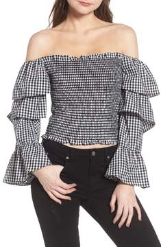 WAYF Denis Off the Shoulder Ruffle Top