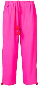 Figue embellished cropped drawstring trousers