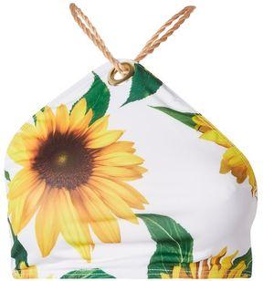 Jaded London **sunflower print bikini top