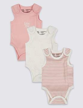 Marks and Spencer 3 Pack Girls Premature Bodysuits