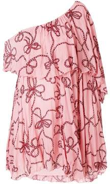 Pinko one-shoulder ruffle blouse