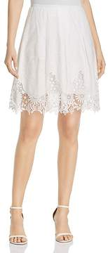 T Tahari Salina Embroidered Lace Skirt