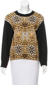 Camilla And Marc Leopard Print Pullover Sweater