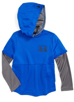 Under Armour Boy's Train To Game Layered Coldgear Hoodie