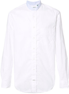 Gitman Brothers banded collar shirt