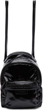 Stella McCartney Black Patent Mini Backpack