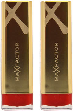 Max Factor Ruby Tuesday Colour Elixir Lipstick - Set of Two