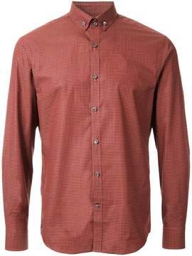 Kent & Curwen mini gingham check shirt