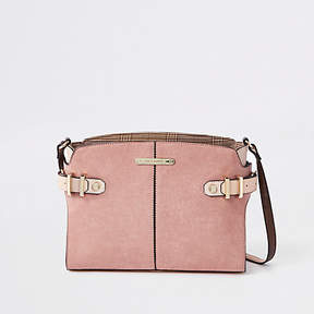 River Island Beige tab side cross body bag