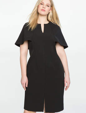 ELOQUII Cape Top Sheath Dress