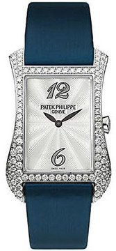Patek Philippe Gondolo Serata 18kt White Gold Diamond Blue Ladies Watch