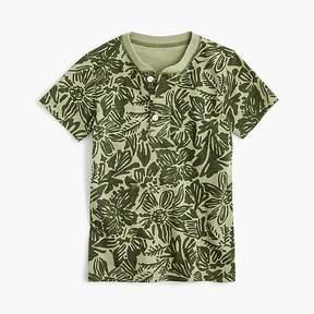 J.Crew Boys' short-sleeve henley shirt in tropical print