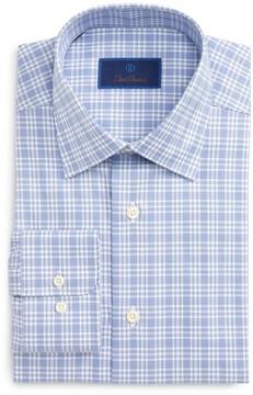 David Donahue Men's Regular Fit Plaid Dress Shirt