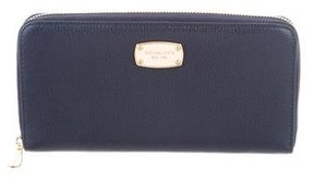 Michael Kors Jet Set Zip-Around Wallet - BLUE - STYLE