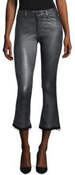 RtA Kiki Flare Leather Cropped Pants