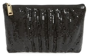 Whiting & Davis Shirred Mesh Pouch Clutch - Black