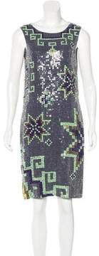Matthew Williamson Sequined Sleeveless Dress