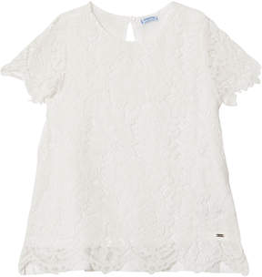 Mayoral Cream Lace Top
