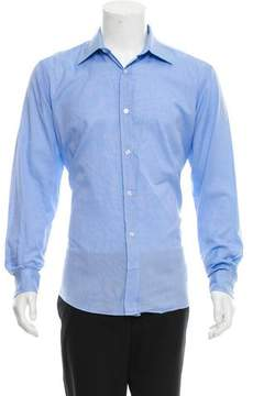 Hermes Woven Button-Up Shirt
