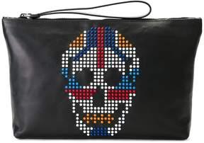 Alexander McQueen studded skull clutch