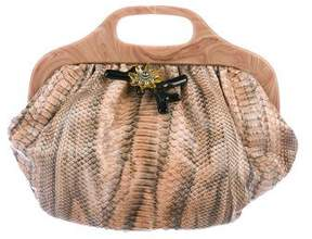 Lanvin Snakeskin Handle Bag