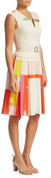 Akris Voile Mural Cotton Dress