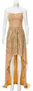 Alberto Makali Strapless High-Low Gown w/ Tags