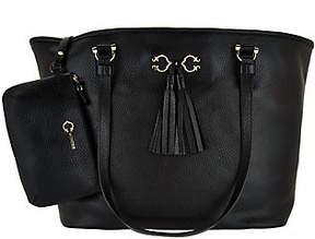 As Is C. Wonder Pebble Leather Open Tote Handbag