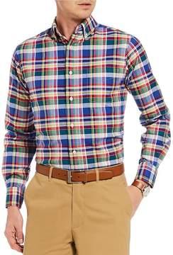 Daniel Cremieux Slim-Fit Large Plaid Oxford Long-Sleeve Woven Shirt