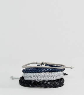 Aldo Gray Bracelets In 4 Pack