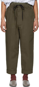 3.1 Phillip Lim Brown Pull-On Rib Relaxed Trousers