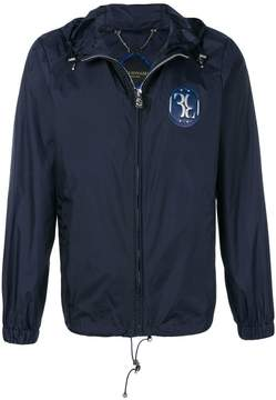 Billionaire chest patch hooded jacket