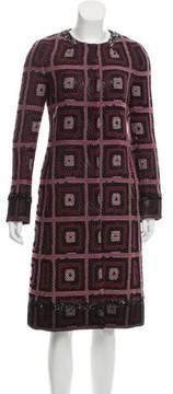 Alessandro Dell'Acqua Sequined Wool Coat