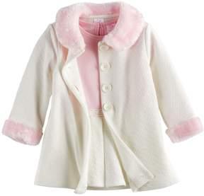 Youngland Baby Girl Jacket & Dress Set