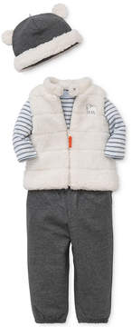 Little Me 4-Pc. Hat, Fleece Vest, Bodysuit & Pants Set, Baby Boys (0-24 months)
