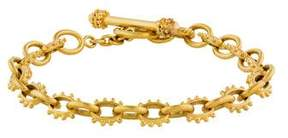 Elizabeth Locke 18K Bead Textured Link Bracelet