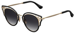 Jimmy Choo Dhelias Filigree Stainless Steel Round Sunglasses