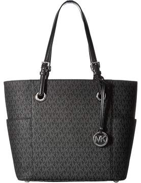 MICHAEL Michael Kors Jet Set Item East/West Signature Tote Tote Handbags - BLACK - STYLE