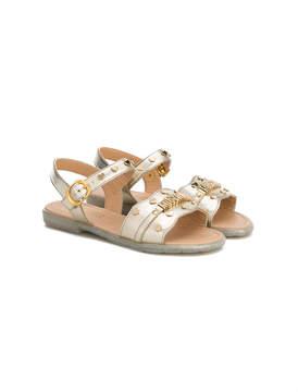 Moschino Kids logo strap sandals