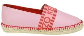 Kenzo Espadrillas In Pink Leather With Logo
