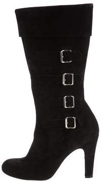 Marc Jacobs Suede Mid-Calf Boots