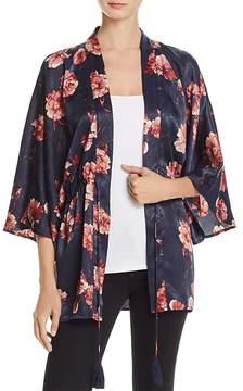 Cotton Candy Floral Print Kimono