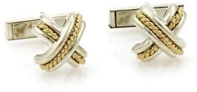 Tiffany & Co. 925 Sterling Silver & 18K Yellow Gold Cufflinks
