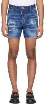 DSQUARED2 Blue Denim Dan Commando Shorts