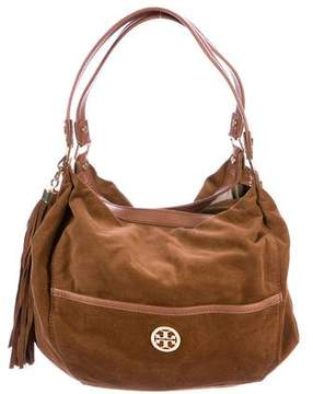 Tory Burch Suede Dean Hobo - BROWN - STYLE