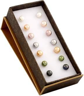 Bella Pearl Multi-Colored Pearl Stud Earring Set of 7