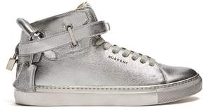 Buscemi 100mm high-top leather trainers