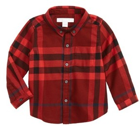 Burberry Infant Boy's Mini Fred Flannel Button-Down Shirt