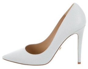 Diane von Furstenberg Leather Pointed-Toe Pumps