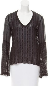 Andrew Gn Silk Embroidered Top